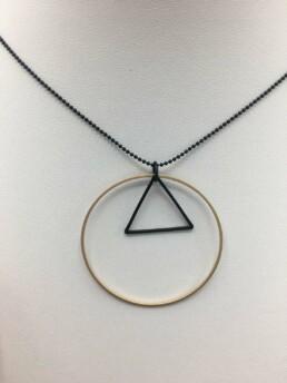 Wolfkat ketting cirkel driehoek