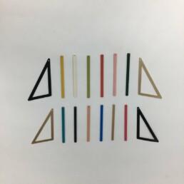 Wolfkat kettingen geometrics staafjes en driehoeken