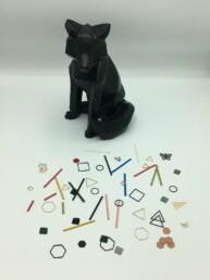 Wolfkat Oorbellen Geometrics