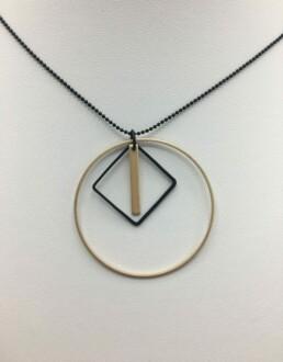 wolfkat kettingen geometrics cirkels vierkant staafje