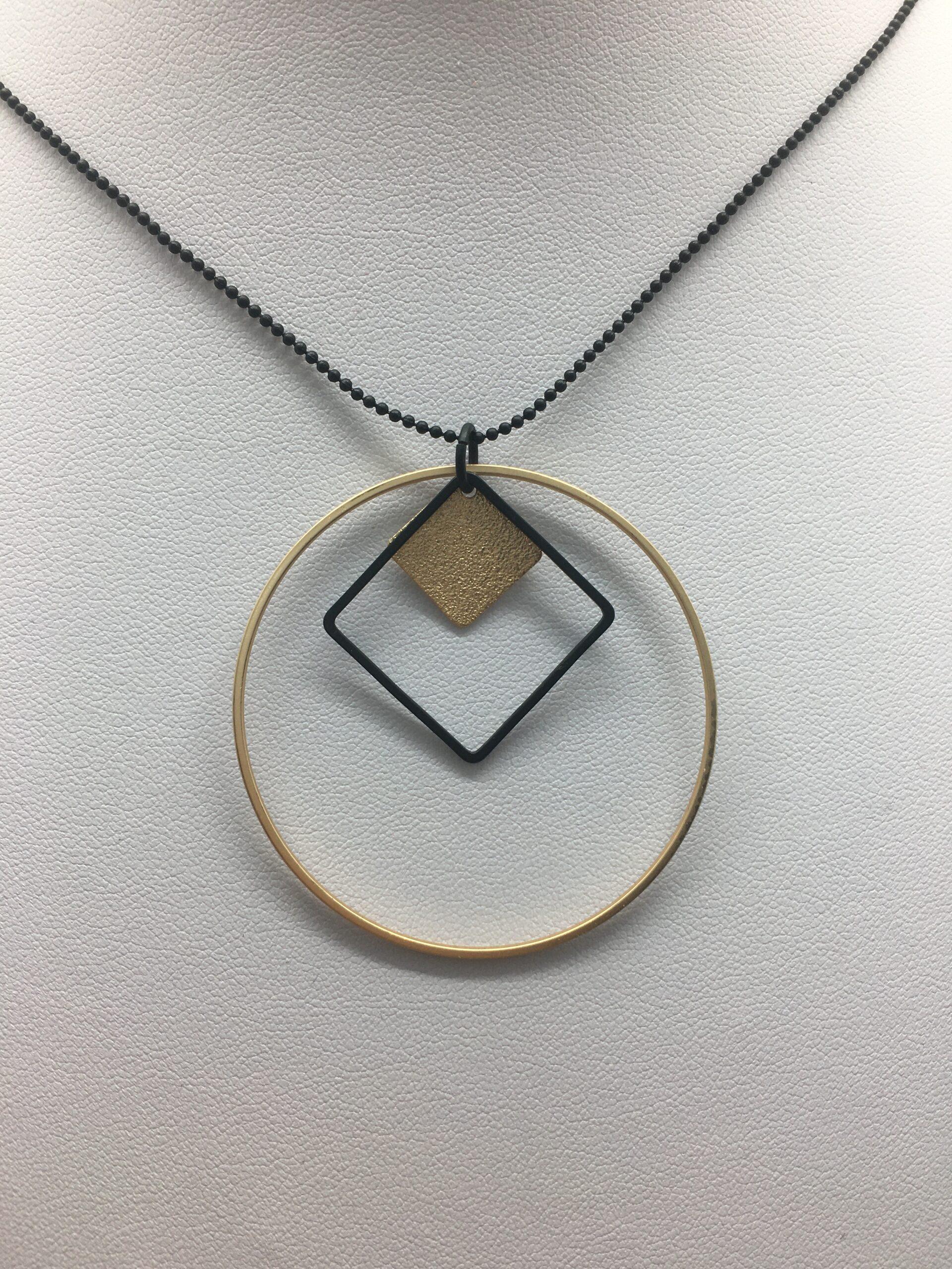 wolfkat kettingen geometrics cirkels vierkant vierkantje