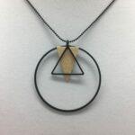wolfkat kettingen geometrics cirkels driehoek driehoekje goud