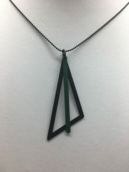 wolfkat kettingen geometrics driehoek zwart staafje petroleum