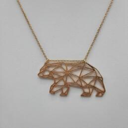 wolfkat kettingen she wolf animals ijsbeer geometrisch