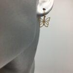 wolfkat oorbellen geometrics animals vlindertje goud