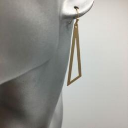 wolfkat oorbellen geometrics driehoeken open goud