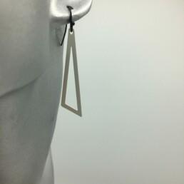 wolfkat oorbellen geometrics driehoeken open zilver