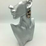 wolfkat oorbellen geometrics rondjes ovalen ovaal luipaard stof