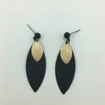 wolfkat oorbellen geometrics rondjes ovalen ovaal steker groot blaadje goud