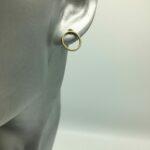 wolfkat oorbellen geometrics rondjes ovalen rond stekertje goud