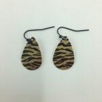 wolfkat oorbellen geometrics rondjes ovalen ovaal zebra goud