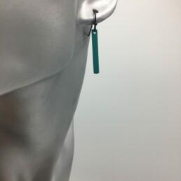 wolfkat oorbellen geometrics staafjes kort turquoise