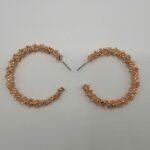 Wolfkat oorbellen geometrics rondjes ring frosted goud