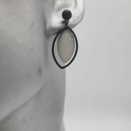 wolfkat oorbellen geometrics rondjes en ovalen ovaal steker klein blaadje zilver