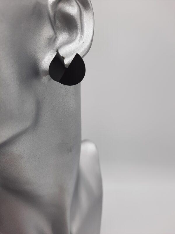 Wolfkat oorbellen geometrics rondjes eclectic zwart
