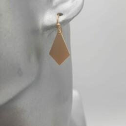 wolfkat oorbellen geometrics ruitje gesloten goud