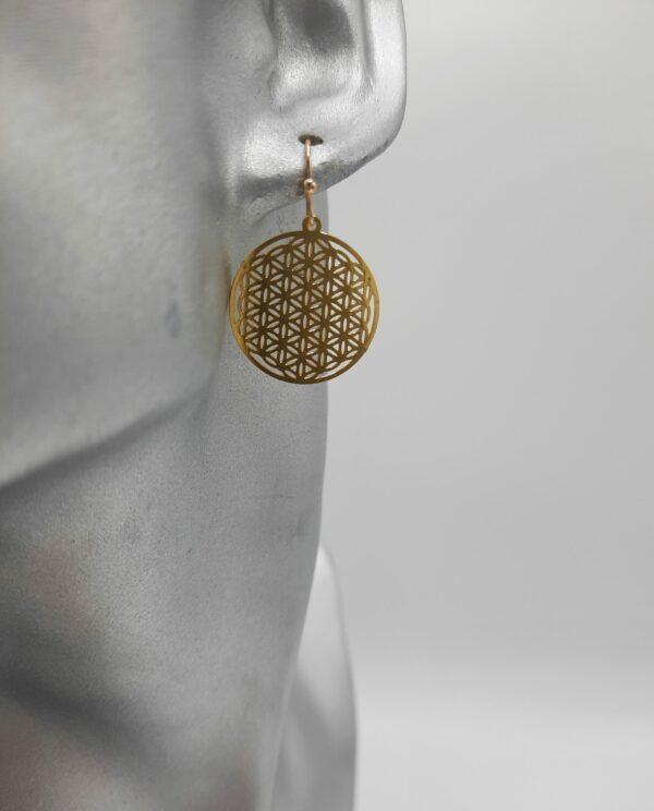 wolfkat oorbellen geometrics rondjes en ovalen rondje bohemian goud