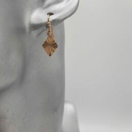 wolfkat oorbellen geometrics ruiten mini ruitje goud