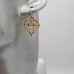 wolfkat oorbellen she wolf diamant geometrisch goud