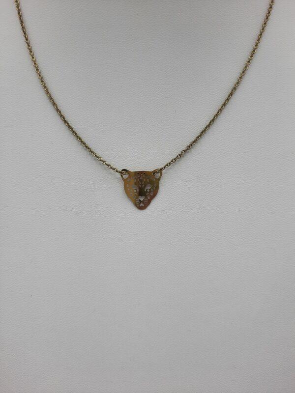 wolfkat kettingen she wolf animals luipaardkop klein oud goud