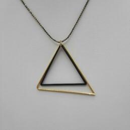 wolfkat kettingen she wolf figures+ driehoek zwart en goud