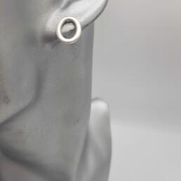 wolfkat oorbellen geometrics rondjes en ovalen ovaal steker zilver