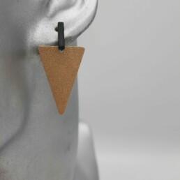 wolfkat oorbellen geometrics driehoeken driehoek goud staafje zwart