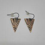 wolfkat oorbellen geometrics driehoeken driehoek zebra frosted goud