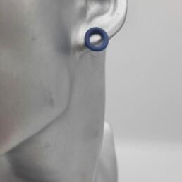wolfkat oorbellen geometrics rondjes en ovalen ovaal stekertje blauw
